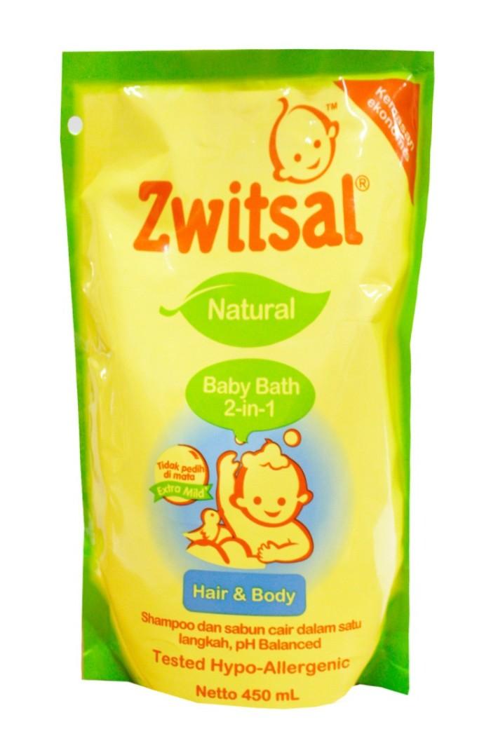 harga Zwitsal baby bath natural hair body 2in1 450 ml sabun bayi refill Tokopedia.com