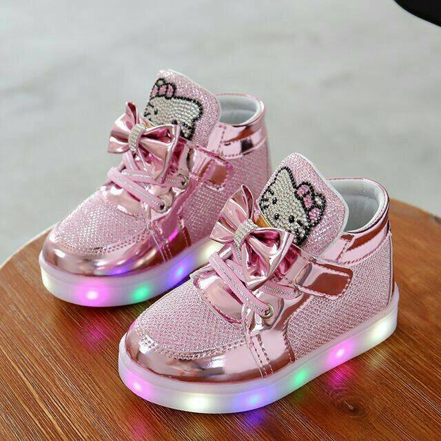 harga Obral sepatu anak lampu led hello kitty size 21 helo kity boot shoes Tokopedia.com