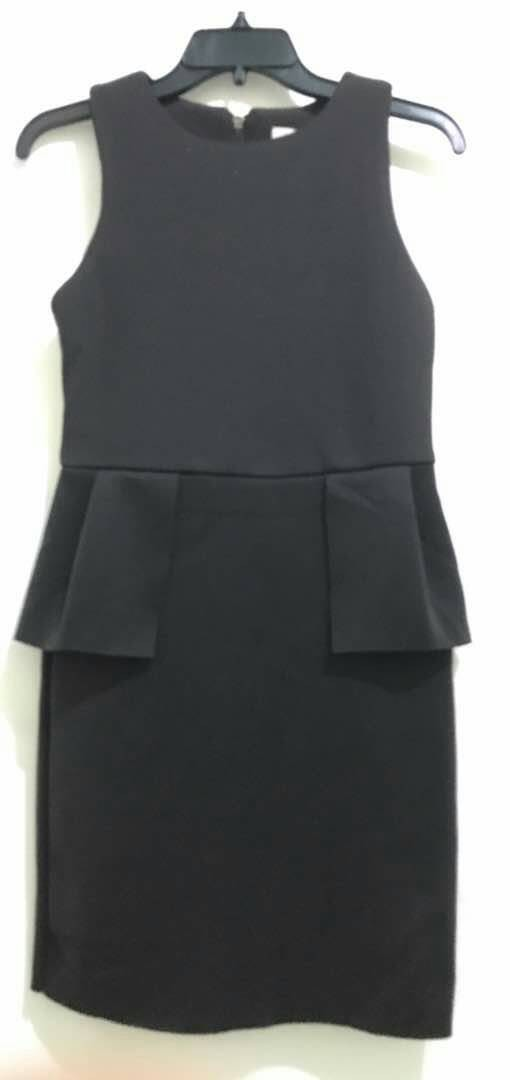 harga Baju branded murah f21 black peplum dress original premium Tokopedia.com