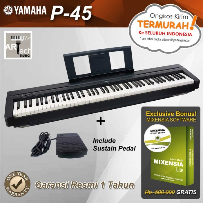 jual yamaha p45 p 45 p45b p 45b digital piano. Black Bedroom Furniture Sets. Home Design Ideas