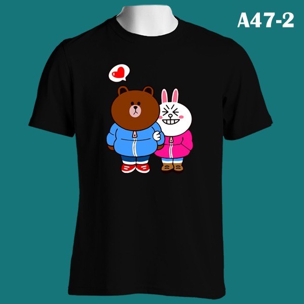 Brown & Cony Winter Date Line | A47-2 | Kaos Couple | Family T-Shirt