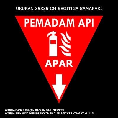 Www Apar: Jual Sticker Rambu APAR (Alat Pemadam Api Ringan