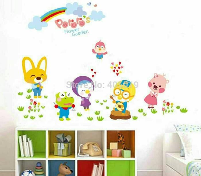 jual wallsticker pororo n friends/ stiker dinding/ dekorasi rumah