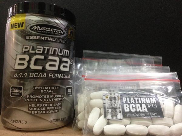 suplemen nutrisi Muscletech Platinum BCAA Eceran 20 Tabs original