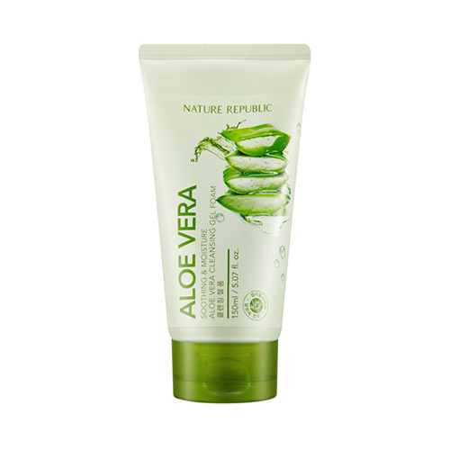 harga Soothing & moisture aloe vera cleansing gel foam 150 - nature republic Tokopedia.com