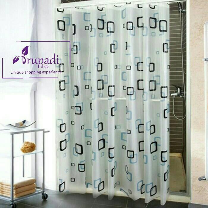 harga Shower Curtain Small Box Tirai Kamar Mandi Anti Air Waterproof Tokopedia.com