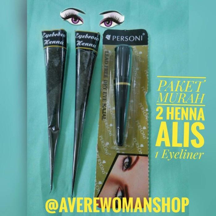Jual Paket Murah 2 Henna Alis 1 Kajal Eyeliner Avere Woman Shop