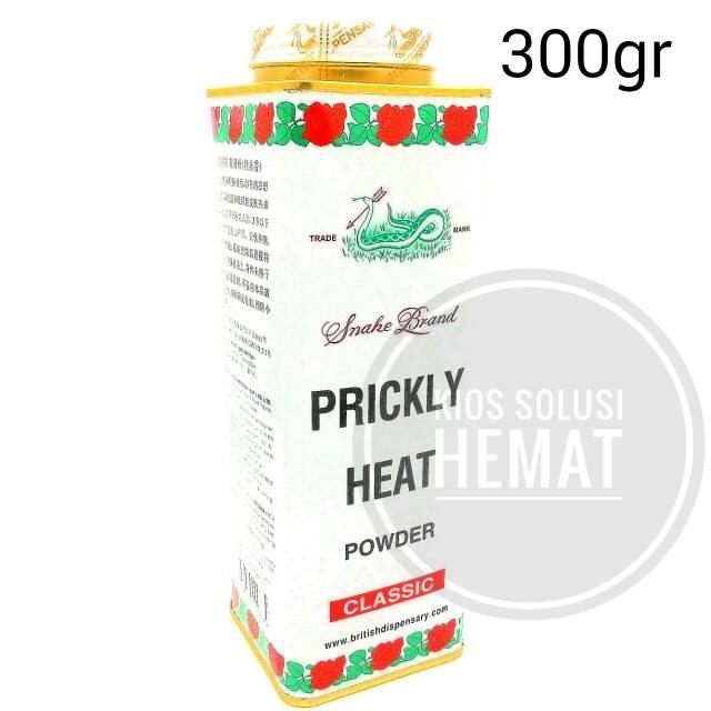 PRICKLY HEAT POWDER-SNAKE BRAND 300 GR [Bedak Biang Keringat Cap Ular]