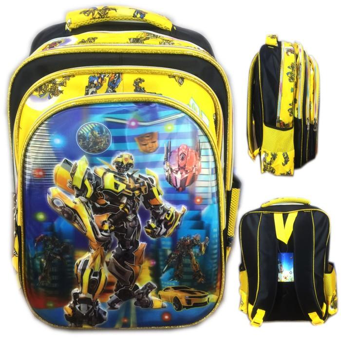 Tas ransel sekolah anak sd transformer bumble 5d gambar rubah2 yellow