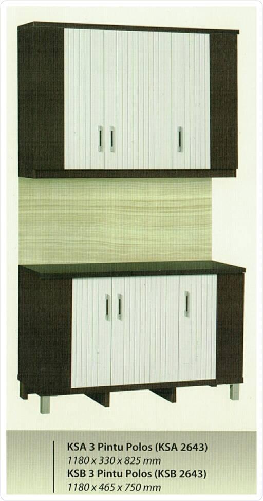Jual Lemari Dapur Kitchen Set 3 Pintu Atas Bawah Minimalis Karya