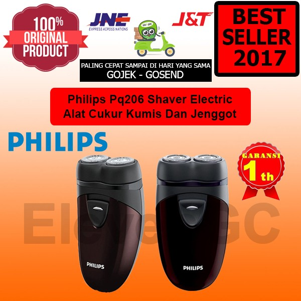 Mesin Cukur Jenggot Kumis PHILIPS PQ206 Electric Shaver Garansi Resmi
