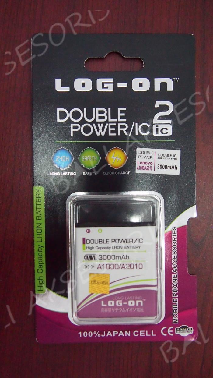 Baterai Double Power Lenovo A1000 A2010 Vibe A BL253 Merk Logon