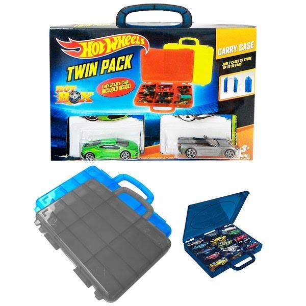 Hot Wheels Twin Pack Carry Case (Isi 2 box hot wheels + 3pcs Hotwhee