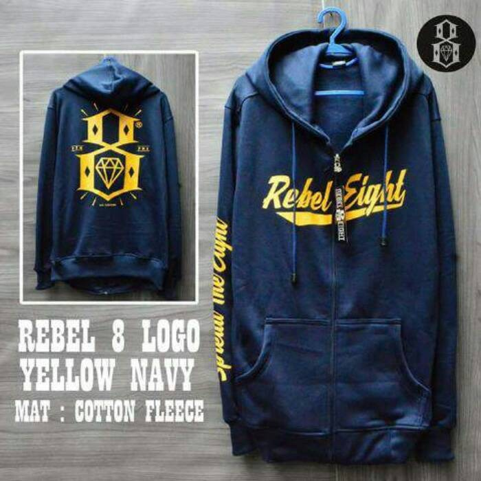harga Jaket sweater rebel eight motif murah Tokopedia.com