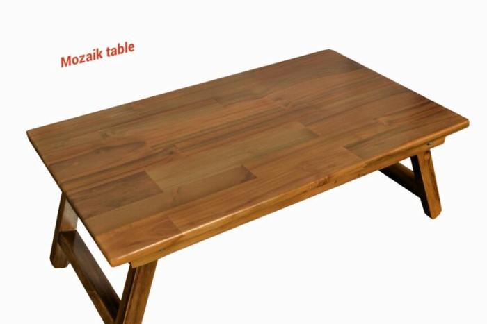 harga Meja Lipat Laptop Kayu Jati/laptop Stand/mozaik Table Tokopedia.com