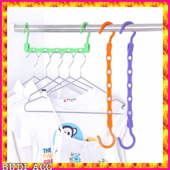 BIRU Wonder Hanger Magic gantungan baju lemari pakaian Laundry BIRU SP