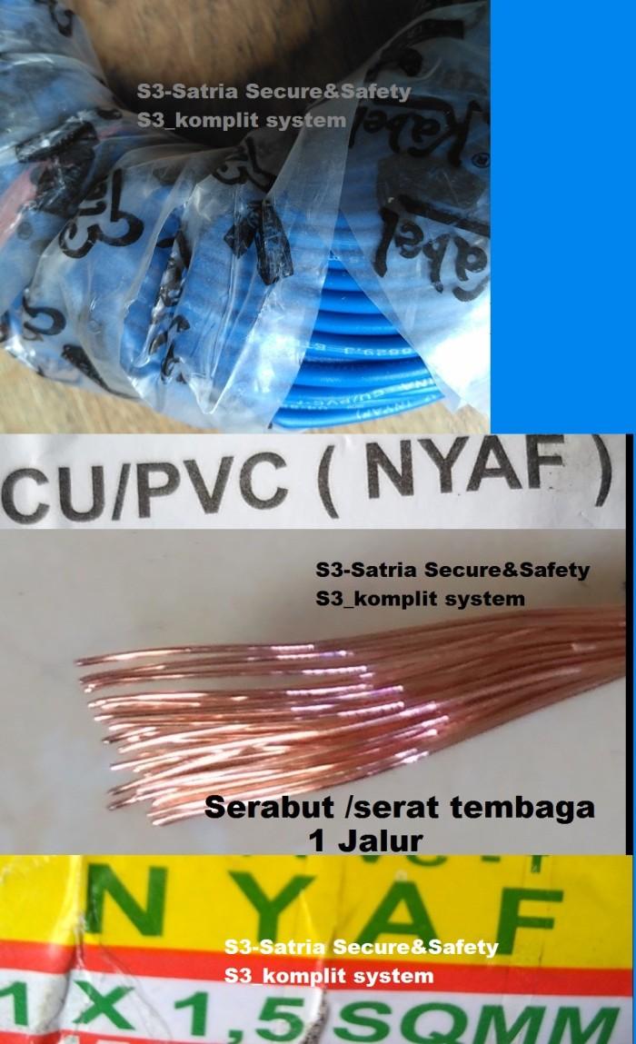Jual Biru Kabel Nyaf 15 Mm Listrik Serabut 1 Jalur 1x 4 Per Meter 15mm