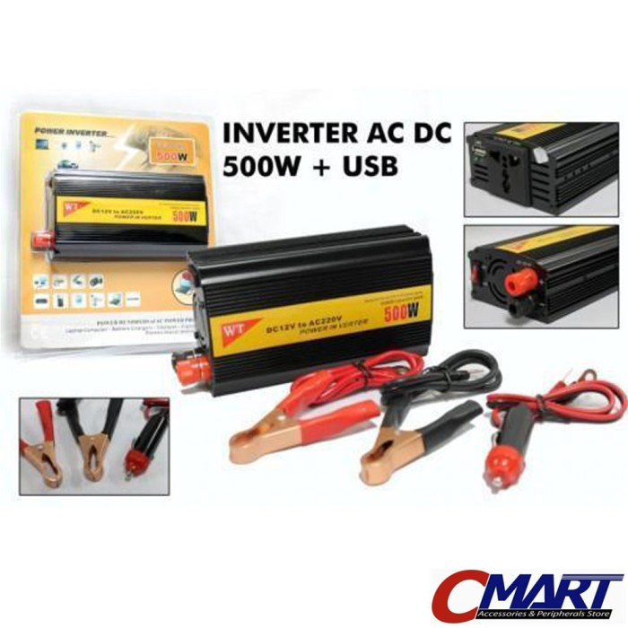 harga Power inverter charger mobil 500w dc to ac & usb - acc-pw-500w Tokopedia.com