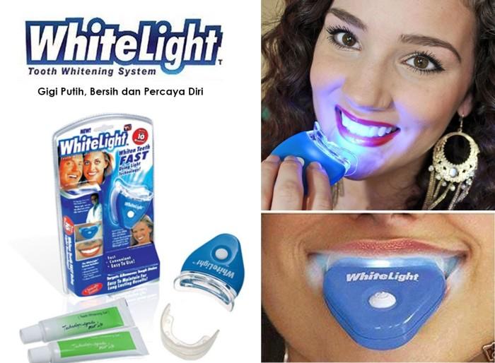 Jual White Light Pemutih Gigi Bkn Pasta Gigi Odol Dispenser Odol
