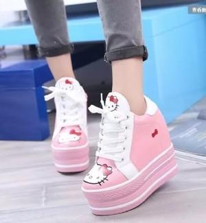 harga Sepatu Boots Wanita Korea Hello Kitty Sbo314 Tokopedia.com