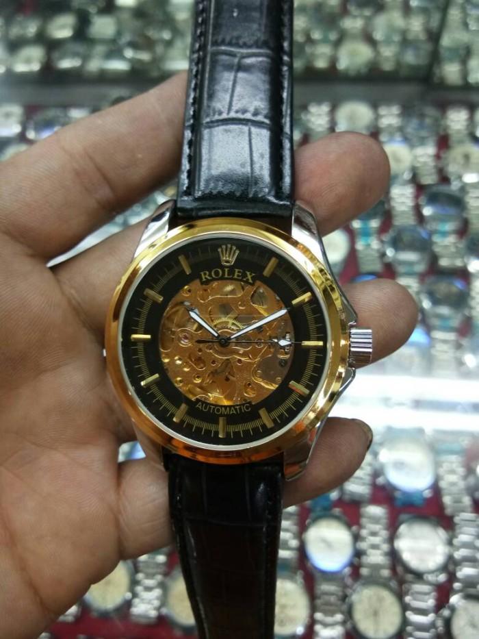 harga Jam tangan pria simple elegan rolex kulit otomatis 18 london super Tokopedia.com