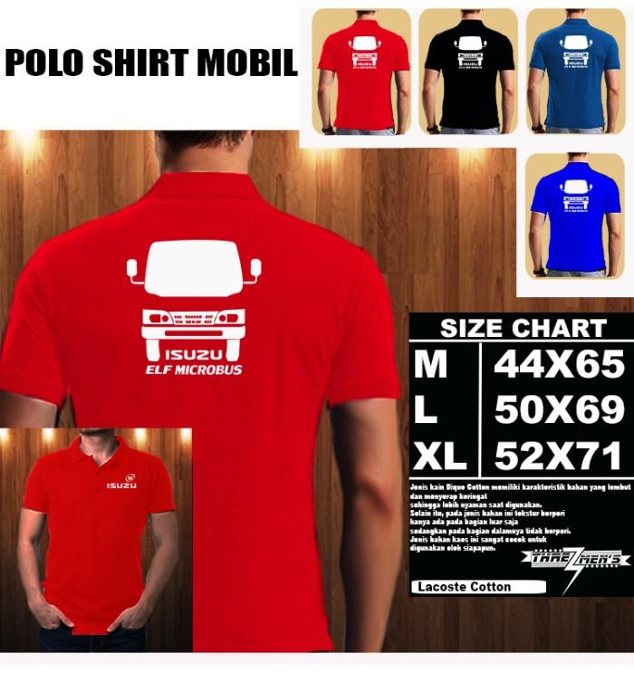 Jual Polo Shirt Mobil ISUZU ELF MICRO BUS SILUET TD Baju Kaos Kerah ... c1750cfb90