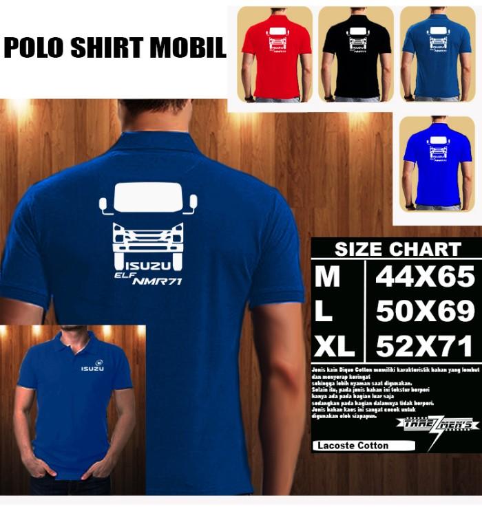 Jual Polo Shirt Mobil ISUZU ELF NMR 71 SILUET TD Baju Kaos Kerah ... f2d176d76a