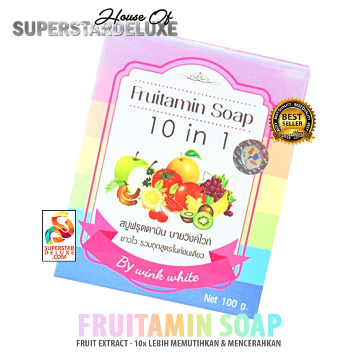 Lucky Wink White Fruitamin Soap 10 In 1 100gr 1pcs Collagen Lip Source . Source ·