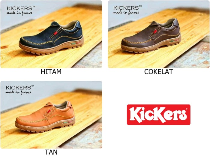 harga Sepatu casual slip on pria kickers sb - formal - branded - casual cowo Tokopedia.com