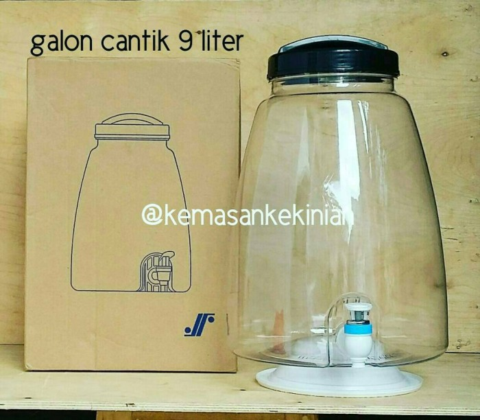 harga Galon cantik 9 liter pake kran Tokopedia.com