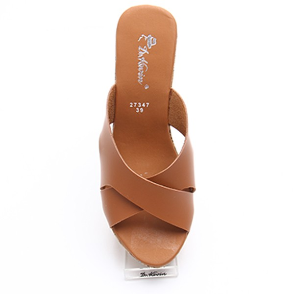 Dr. Kevin Women Wedges Sandals 27347 - Tan - Cokelat Muda,