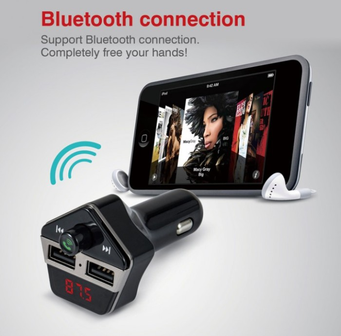 harga St06 bluetooth 3.0 fm transmitter radio stereo adapter charger mp3 Tokopedia.com