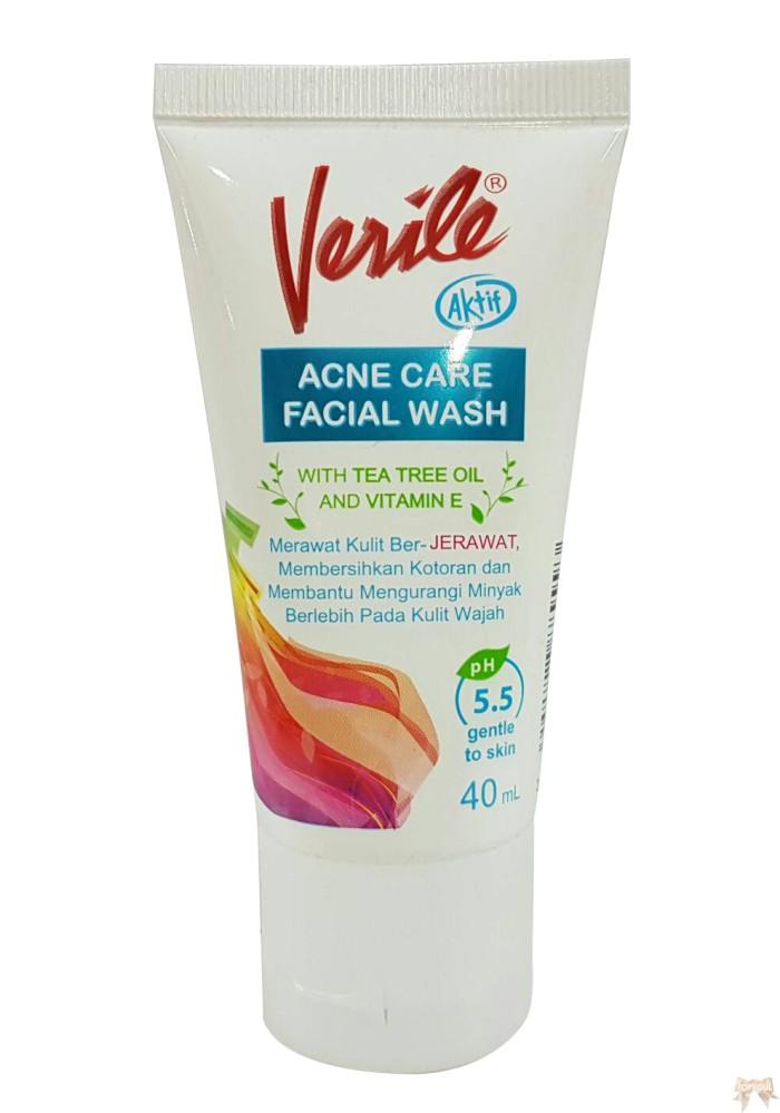 Jual Facial Wash Verile 40 ml / sabun acne care face wash kulit berjerawat - DKI Jakarta - Dunia Grosir Besar   Tokopedia