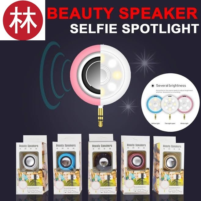 harga Beauty speaker selfie lamp 2 in 1 spotlight lampu disco-gold Tokopedia.com