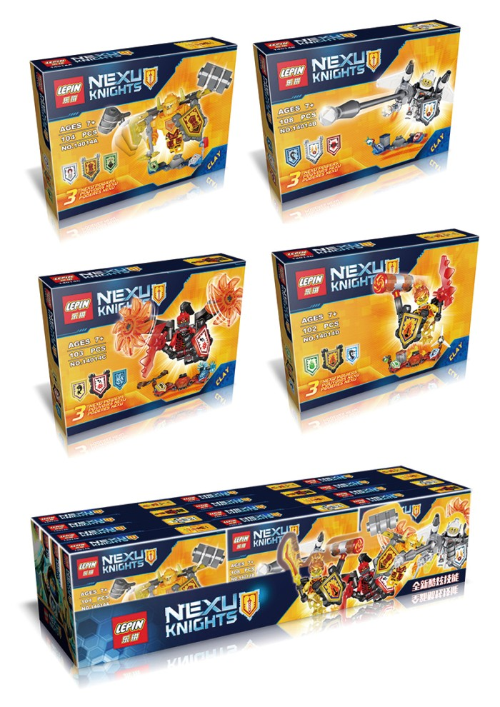 Lepin Bricks 14014 A-D Nexu/Nexo Knights Future (4 Styles/8 Pcs)