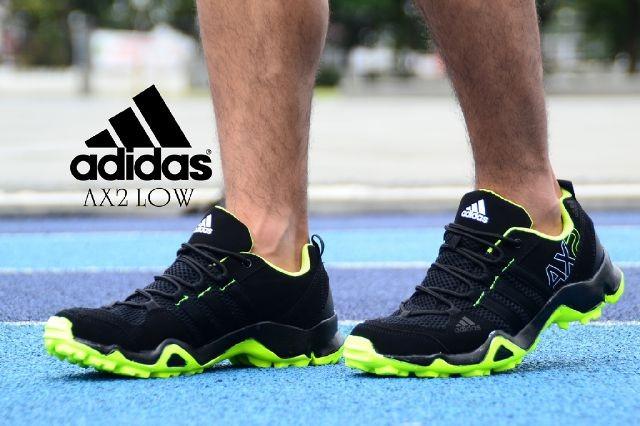 Jual Sepatu Pria Adidas Ax2 Low Sport Man Hitam Sol Hijau Kota