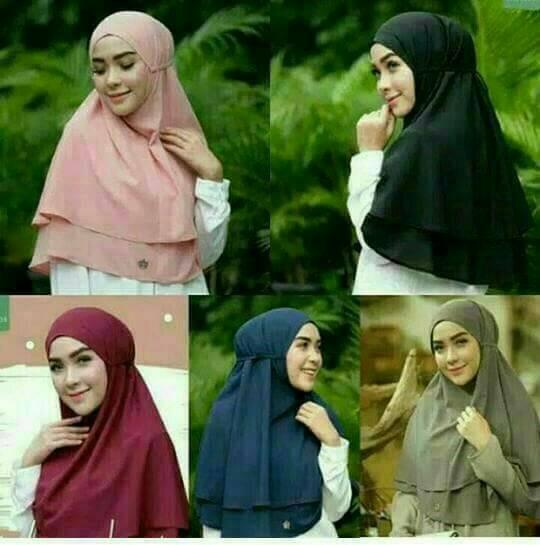 harga Hijab/kerudung/jilbab instan khimar rubiah daily aisyah kcb rumana Tokopedia.com