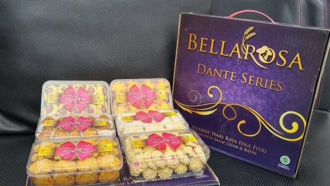 paket kue kering lebaran bellarosa dante series