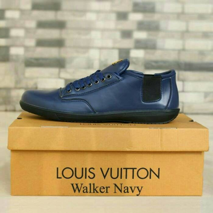 Jual Sepatu pria branded casual santai premium LV Obral paling murah ... efaa785557