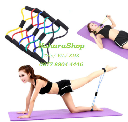 harga Resistance elastic band yoga pilates exercise gym abs fitness Tokopedia.com