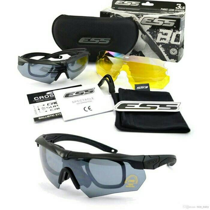 harga Kacamata military safety glass kacamata goggle ess crossbow black Tokopedia.com