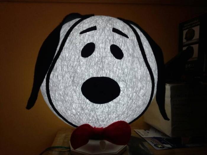 Jual lampion benang karakter lampu tidur snoopy cek harga di