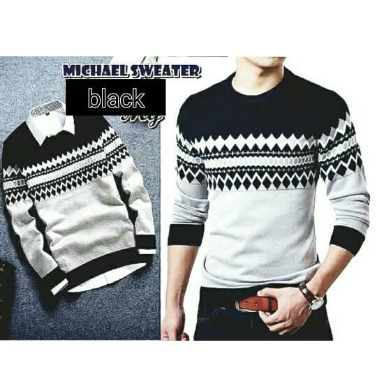 Sweater Rajut Pria Korea / Rajut Murah / Grosir Baju Rajut / Kaos