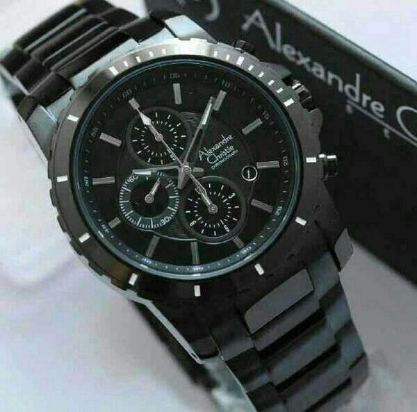 harga Jam tangan pria original alexandre christie ac 6141 mc full black Tokopedia.com