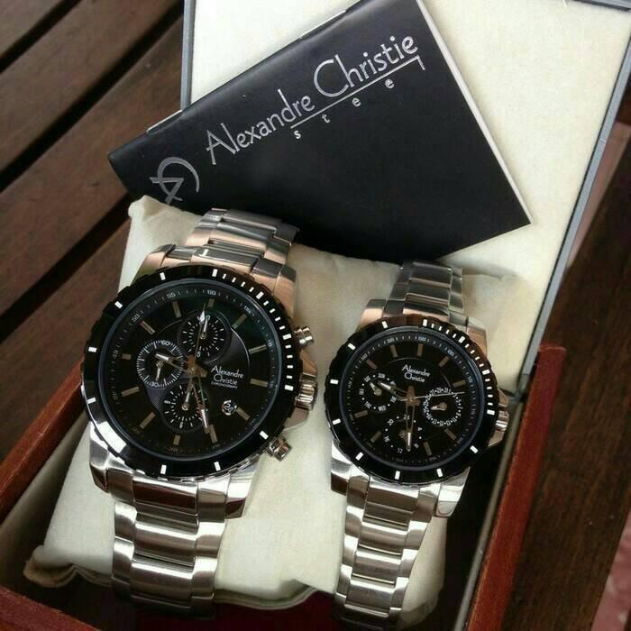 harga Jam tangan original alexandre christie ac 6141 couple black silver Tokopedia.com