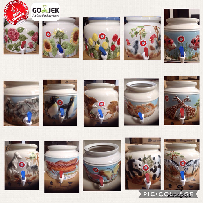 harga Guci keramik/guci air/guci galon /guci dispenser Tokopedia.com