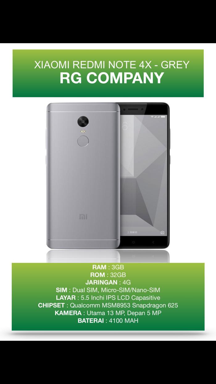 Jual Hot Xiaomi Redmi Note 4x Ram 3gb Rom 32gb Grey Garansi 1 Tahun