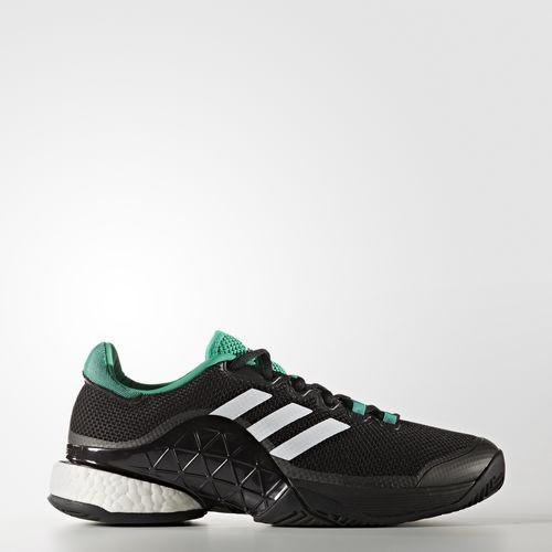 ... harga Sepatu tennis adidas barricade 2017 boost - black green original  Tokopedia.com a16f78cfd7