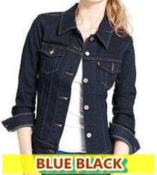 Jual Jaket Jeans Denim Blue Black Hitam Wanita Cewek Perempuan ... 6d62d30507