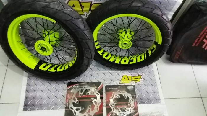 harga Wheelset velg set klx supermoto 17 17 300 350 Tokopedia.com